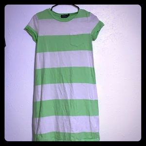 Green and white polo dress with frocket.